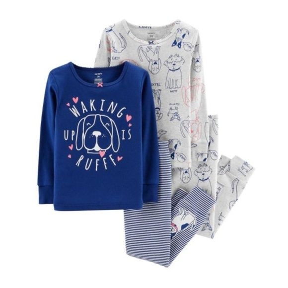 Carter's Other - NWT Carter's Toddler Girl 4pc Glitter Puppy Pjs